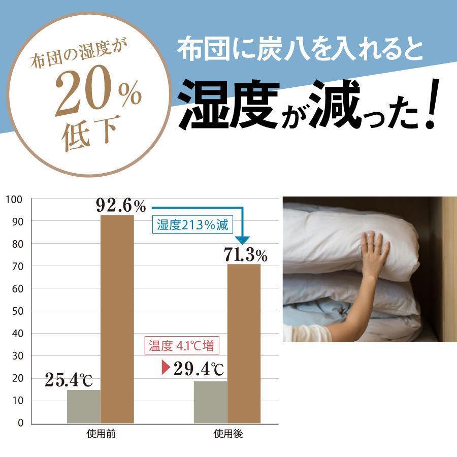 あすつく  炭八 除湿 消臭 カビ対策 特別価格 炭八スマート小袋0.4L 出雲屋炭八・調湿木炭|izumohinoki|07