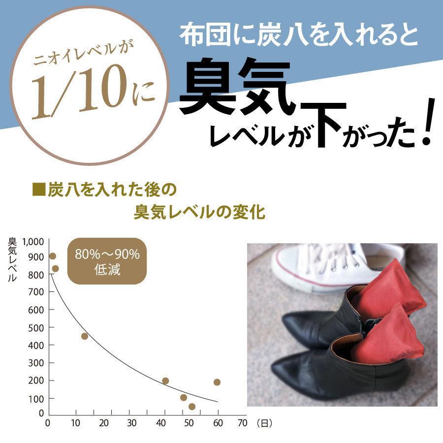 あすつく  炭八 除湿 消臭 カビ対策 特別価格 炭八スマート小袋0.4L 出雲屋炭八・調湿木炭|izumohinoki|09