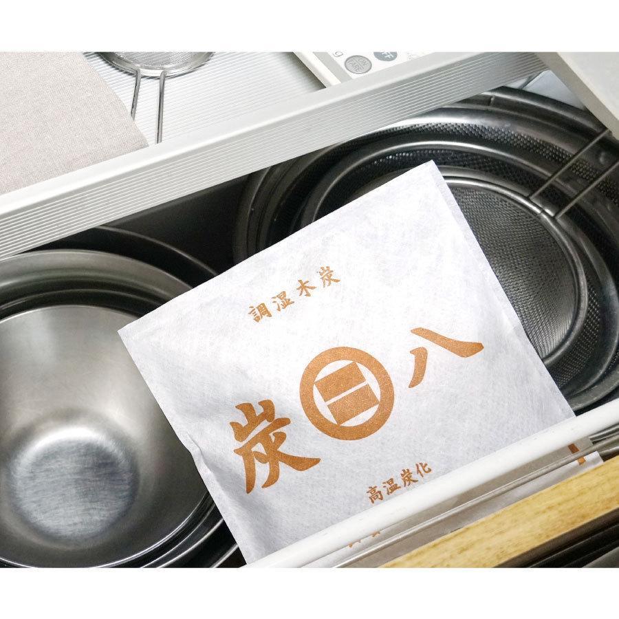 炭八 除湿 消臭 結露 対策に 収納おまかせ16個セット 出雲屋炭八・調湿木炭 12L 送料無料|izumohinoki|02