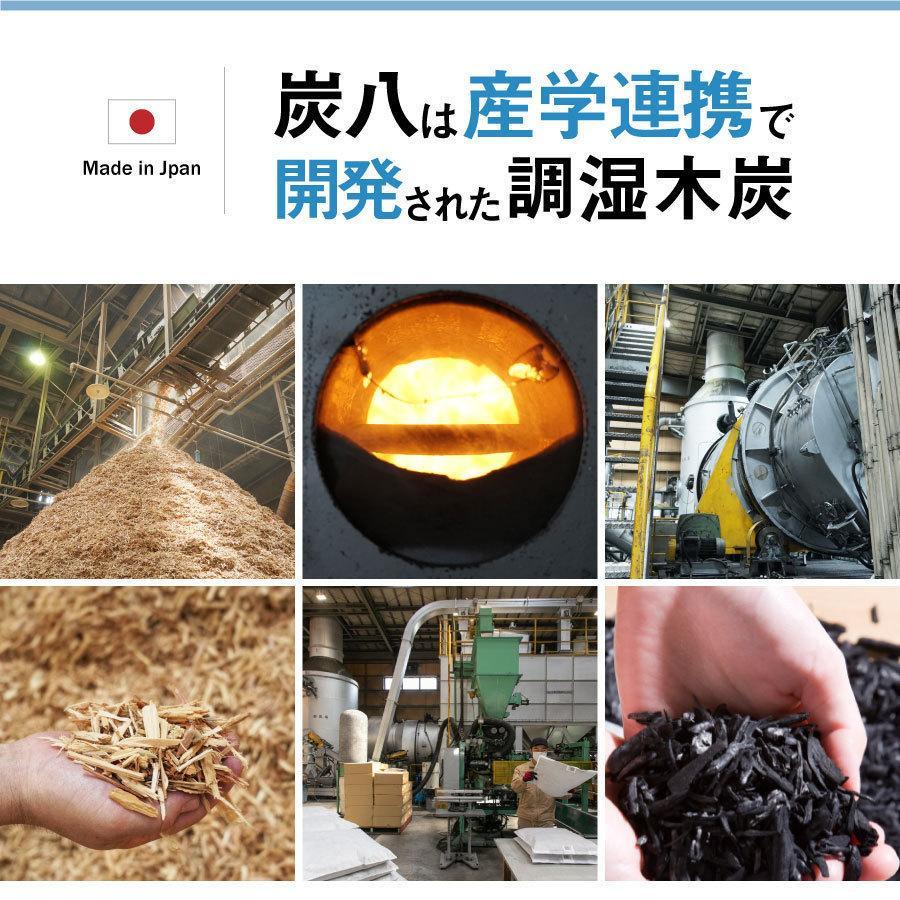 炭八 除湿 消臭 結露 対策に 収納おまかせ16個セット 出雲屋炭八・調湿木炭 12L 送料無料|izumohinoki|07