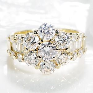 最前線の K18YG ゴールド ダイヤモンド ダイヤ 指輪 リング SIクラス 大粒 豪華 3.00ctUP FYR0195, フィッシングショップウエシマ e07a1240