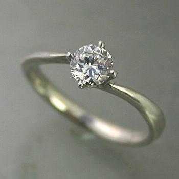 人気デザイナー エンゲージリング ダイヤモンド 安い プラチナ 0.3カラット 鑑定書付 0.30ct Dカラー VS1クラス 3EXカット GIA, 佐世保市 13e1937b