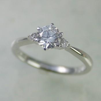 新品同様 婚約指輪 安い エンゲージリング プラチナ ダイヤモンド 0.3カラット 鑑定書付 0.38ct Fカラー VVS2クラス 3EXカット GIA, ハニカムルーム e597fe82
