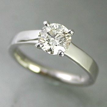 【限定特価】 婚約指輪 安い プラチナ ダイヤモンド 1カラット 鑑定書付 1.00ct Dカラー SI1クラス 3EXカット GIA, 台東区 0fd78e43