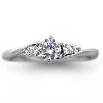 優先配送 婚約指輪 安い エンゲージリング プラチナ ダイヤモンド 0.3カラット 鑑定書付 0.36ct Dカラー SI1クラス 3EXカット GIA, 河内町 9fb9570a