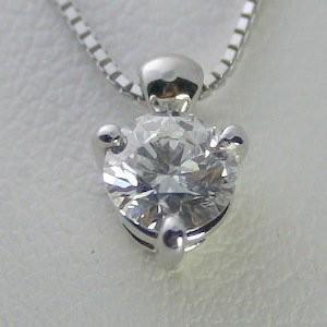 セットアップ ダイヤモンド ネックレス 一粒 プラチナ 0.5カラット 鑑定書付 0.52ct Dカラー VS2クラス 3EXカット GIA, 奥多摩町 e5f2e1f8