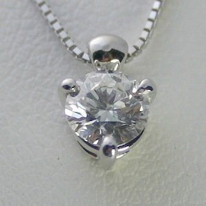 大人気の ダイヤモンド ネックレス 一粒 プラチナ 0.8カラット 鑑定書付 0.80ct Dカラー VS2クラス 3EXカット GIA, 道志村 8710192f