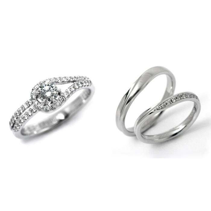 【保障できる】 婚約指輪 結婚指輪 3セット エンゲージリング マリッジリング 安い ダイヤモンド プラチナ 0.3カラット 鑑定書付 0.35ct Dカラー VVS1クラス 3EXカット GIA, オオミヤチョウ 8311aa23