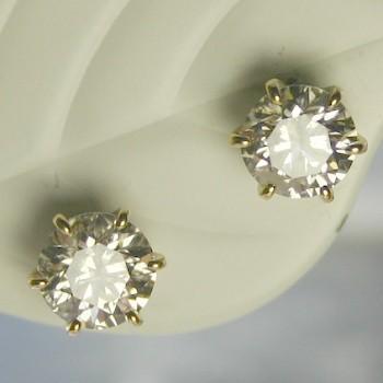 絶妙なデザイン ダイヤモンド CGL ピアス 一粒 ゴールド 0.8カラット 鑑定書付 0.8ctup ゴールド Fカラー 一粒 VVSクラス 3EXカット H&C CGL, お菓子な工房 もえぎ:7adc9e44 --- airmodconsu.dominiotemporario.com