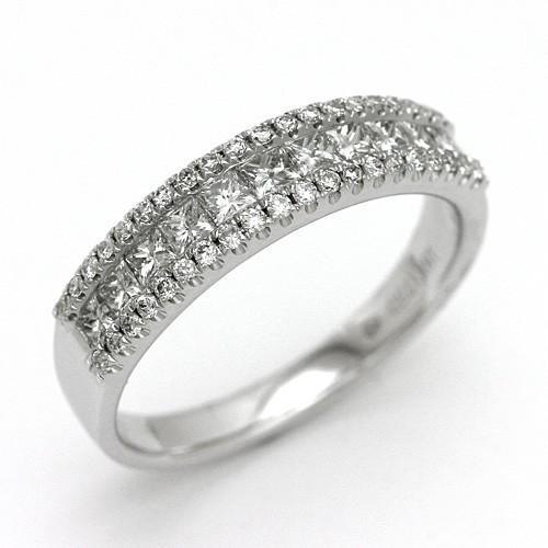 誠実 ダイヤモンドリング ダイヤモンド リング K18WG 0.74ct 激安 送料無料, 北島町 d78a3bec