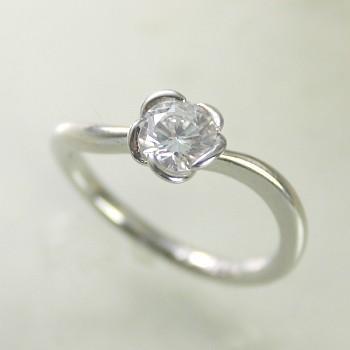【正規逆輸入品】 婚約指輪 安い ダイヤモンド リング プラチナ 0.3カラット 鑑定書付 0.358ct Dカラー VS2クラス 3EXカット H&C CGL, ブルーロータス 13503ebd