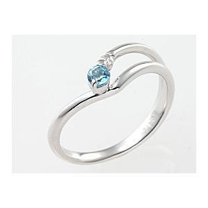 完成品 誕生日プレゼント 11月の誕生石 ブルートパーズリング&ダイヤモンド K18ホワイトゴールド指輪 誕生日 ジュエリー アクセサリー プレゼント, ベクトル 新都リユース 823e8419