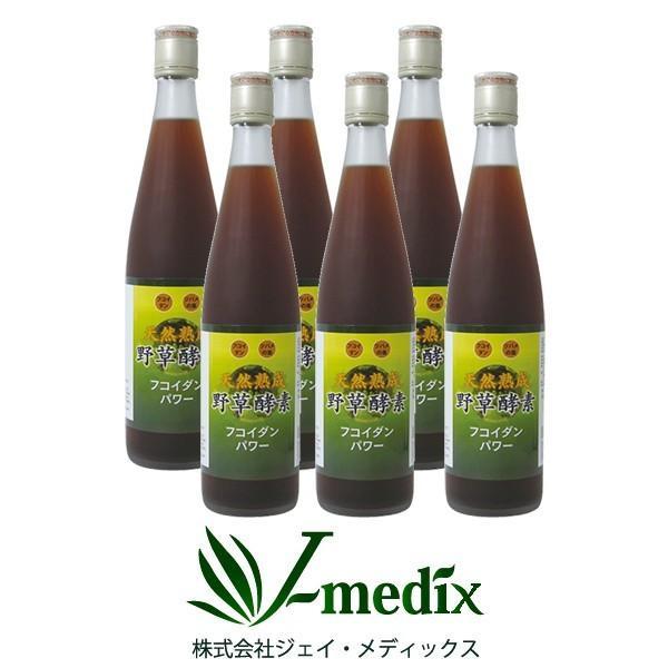酵素ドリンク 無添加 高級 原液100% 6本セット 野草酵素 フコイダンパワー 500ml 代謝 栄養サポート