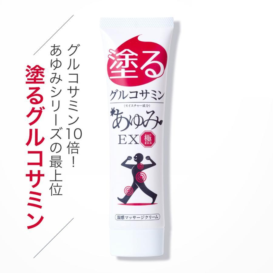 グルコサミン10倍 塗るグルコサミン コンドロイチン クリーム あゆみEX極み 100g 約30日分 j-medix