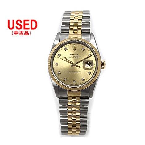 【完売】  ROLEX 旧型 ロレックス メンズ 腕時計 デイトジャスト SS×YG コンビ 10P デイトジャスト 16233 腕時計 X番 品 旧型, スコアUP専門店!TOPGOLF:4b109f38 --- airmodconsu.dominiotemporario.com