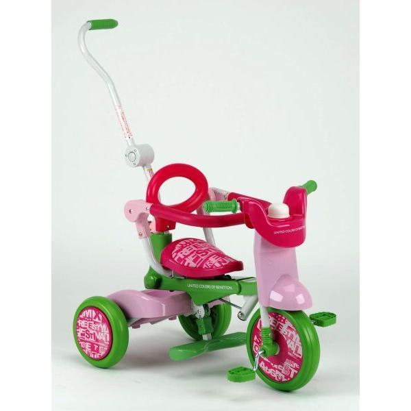 BENETTON(ベネトン) Oritrio Tricycle BE オリトリオ2三輪車 YA-1320(グリーン/ピンク)