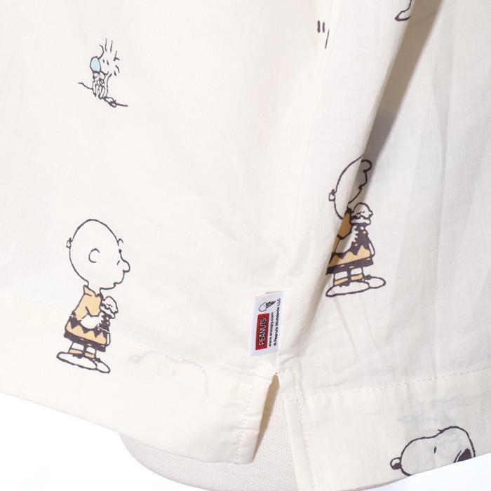 ジェラートピケ gelato pique スヌーピー ルームウェア シャツ レディース 半袖 春夏 前開き 綿 パジャマ /room jack-o-lantern 08