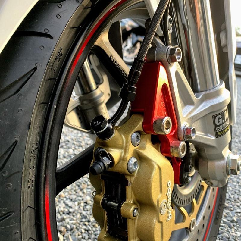 ホンダ CBR250RR(MC51) ブレンボ40mmPich フロントブレーキキャリパーサポート ABS対応 A2017削り出し|jagerlauft|03