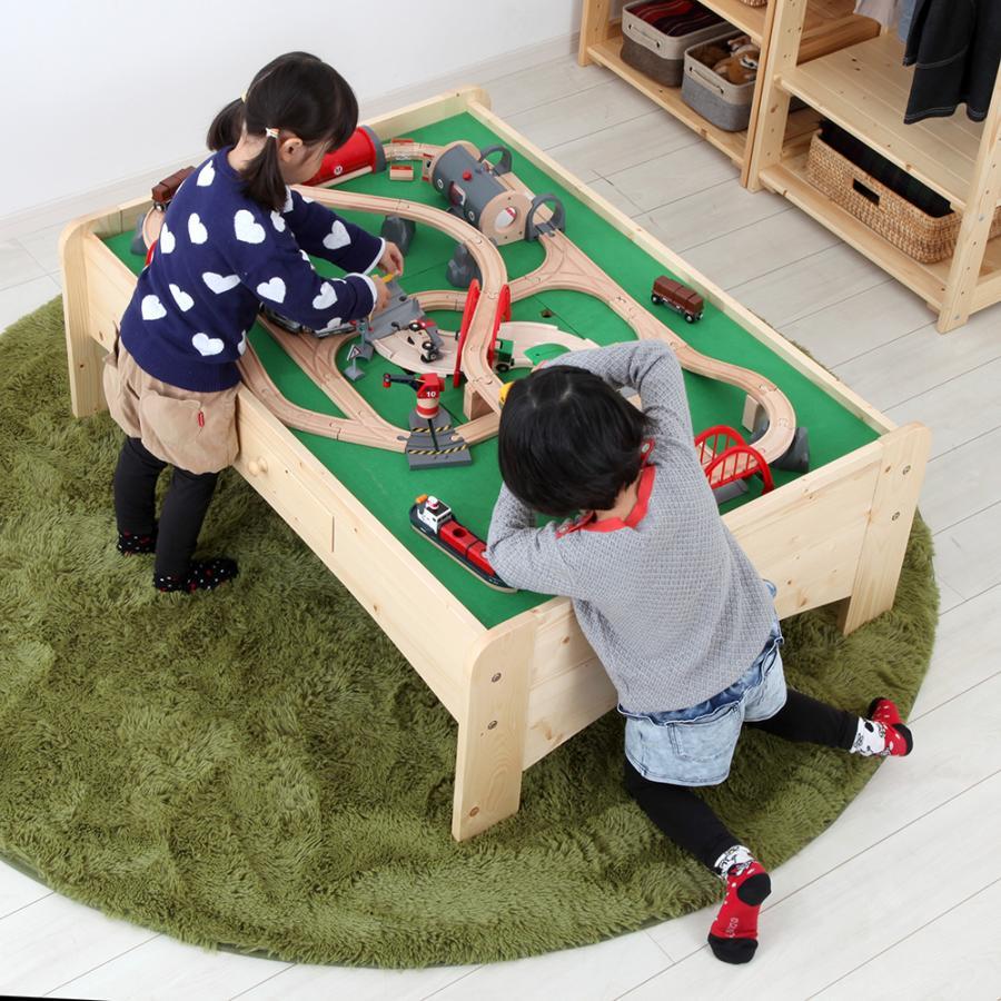 天然木キッズ nico プレイテーブル 幅120cm キッズコーナー おうち遊び 木製 北欧|jajan-a|11