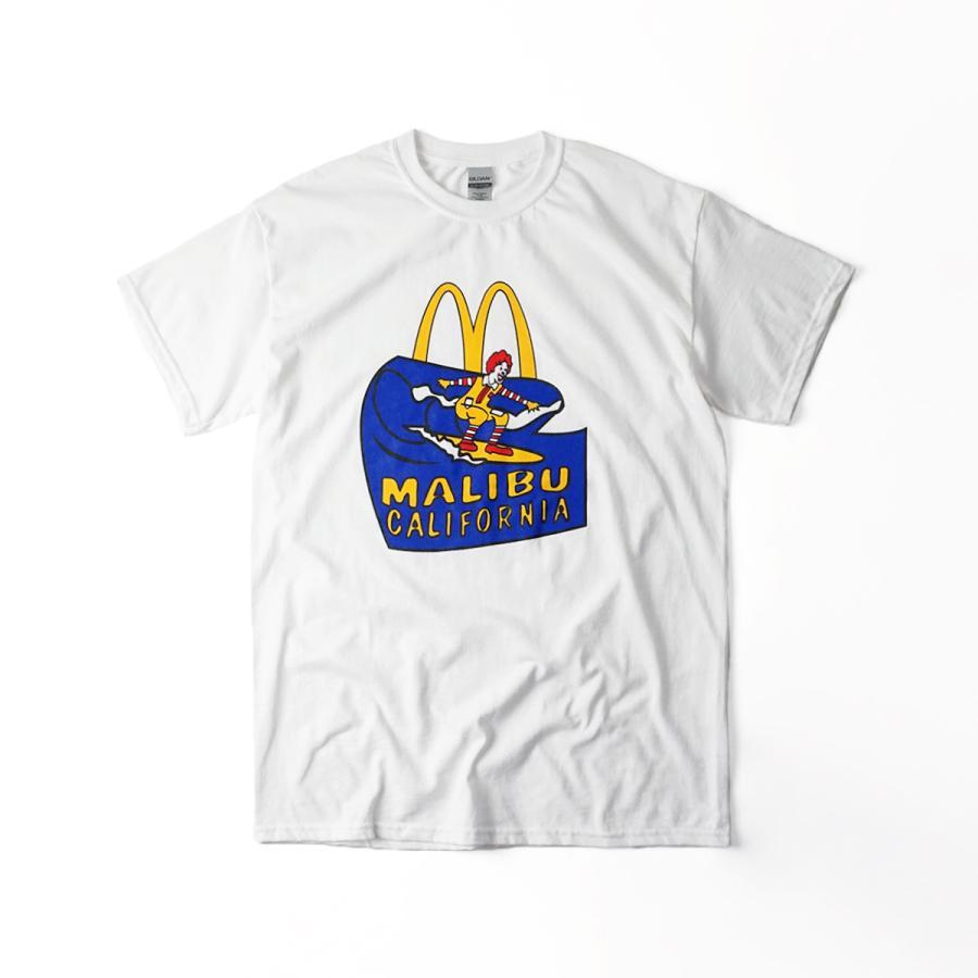 マクドナルド Tシャツ 波乗りドナルド マリブ店限定 ホワイトメンズ レディース S-XXXL McDonald's 海外買い付け商品|jalana|04