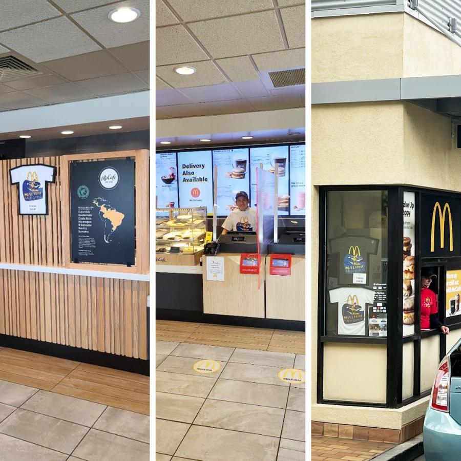 マクドナルド Tシャツ 波乗りドナルド マリブ店限定 ホワイトメンズ レディース S-XXXL McDonald's 海外買い付け商品|jalana|08