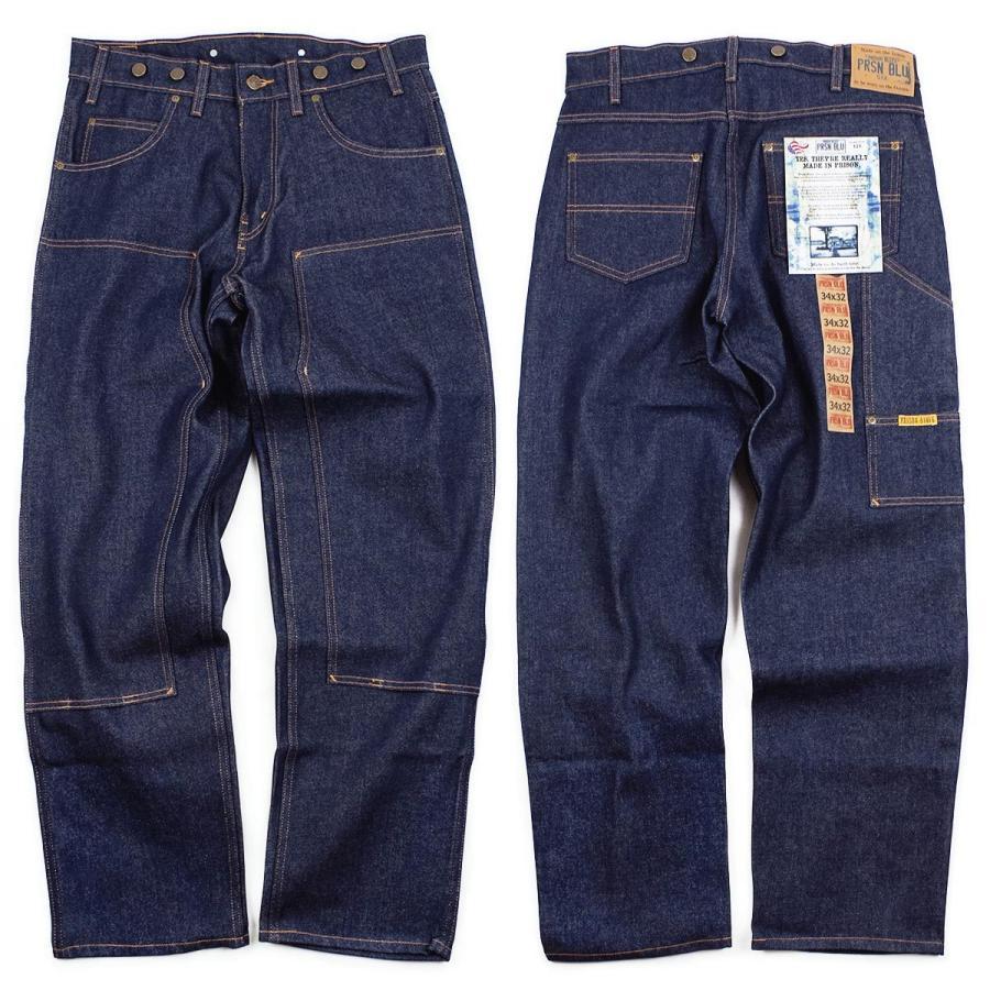 プリズンブルース PRISON BLUES ダブルニーワークジーンズ サスペンダーボタン リジッドブルー | メンズ レギュラーサイズ アメリカ製 MADE IN USA デニム ペイ|jalana|03