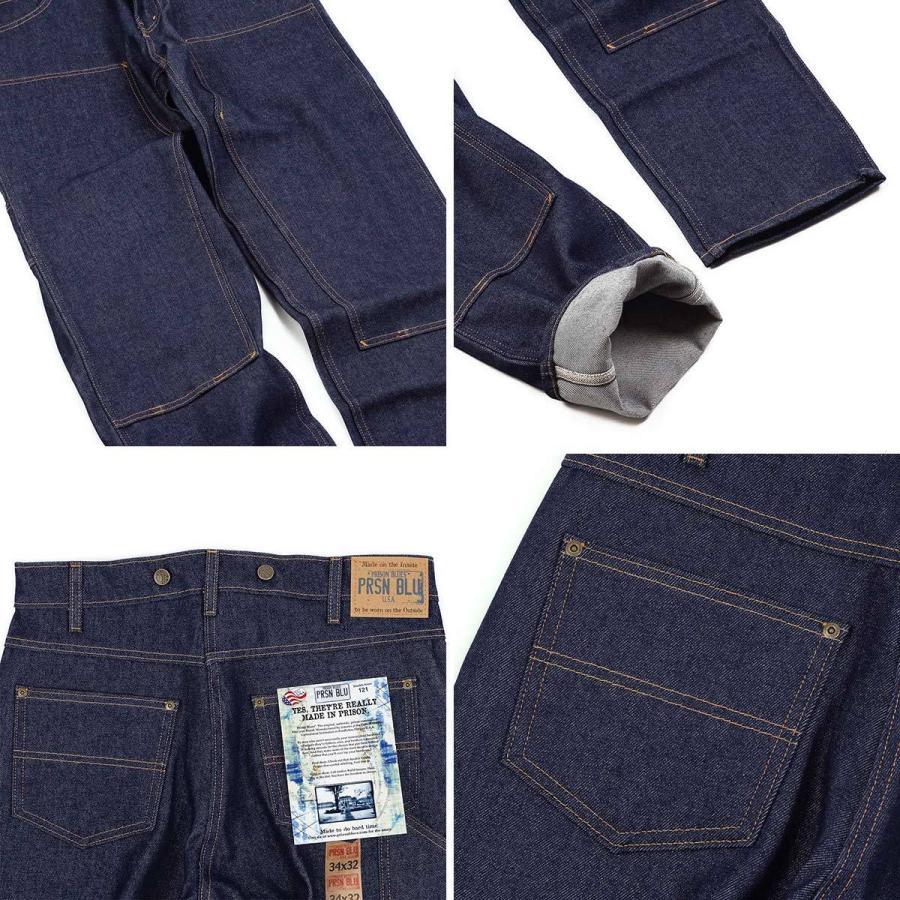 プリズンブルース PRISON BLUES ダブルニーワークジーンズ サスペンダーボタン リジッドブルー | メンズ レギュラーサイズ アメリカ製 MADE IN USA デニム ペイ|jalana|06