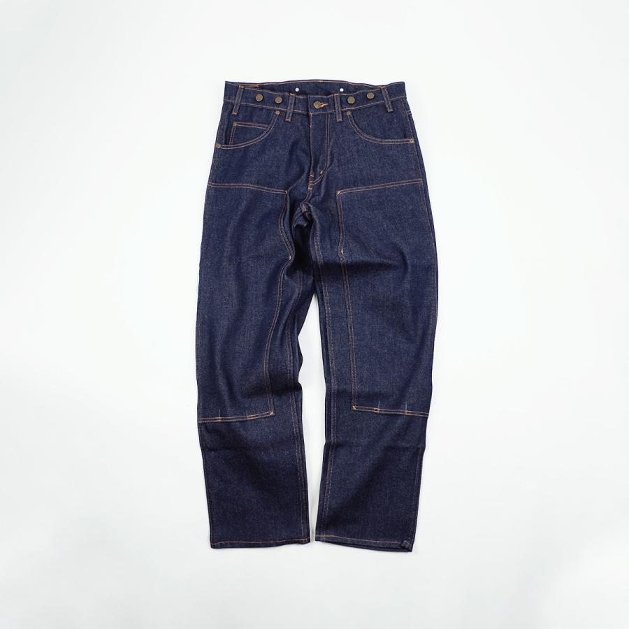 プリズンブルース PRISON BLUES ダブルニーワークジーンズ サスペンダーボタン リジッドブルー | メンズ レギュラーサイズ アメリカ製 MADE IN USA デニム ペイ|jalana|09