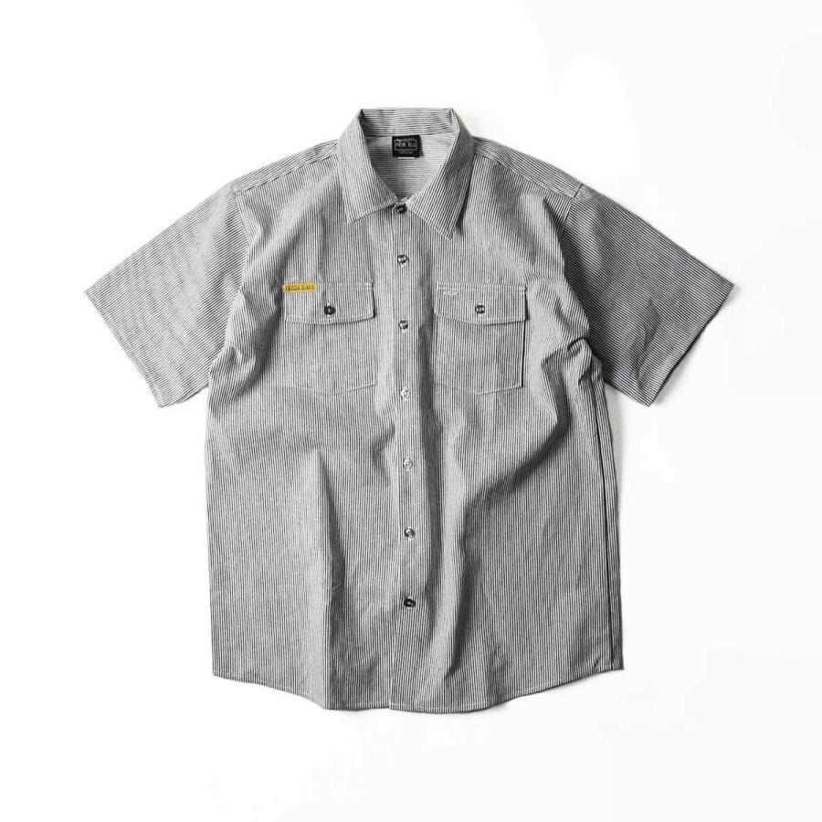 プリズンブルース PRISON BLUES 半袖 8オンス ヒッコリーストライプ ワークシャツ アメリカ製 米国製 HICKORY STRIPE WORK SHIRT jalana 11