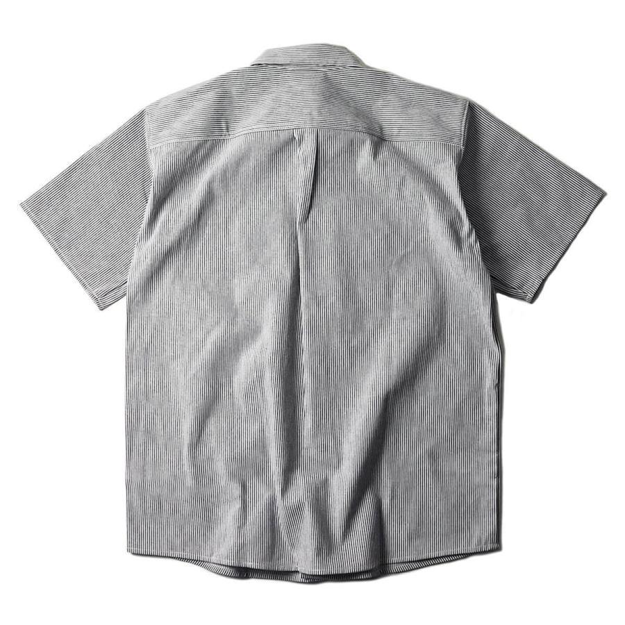 プリズンブルース PRISON BLUES 半袖 8オンス ヒッコリーストライプ ワークシャツ アメリカ製 米国製 HICKORY STRIPE WORK SHIRT jalana 05