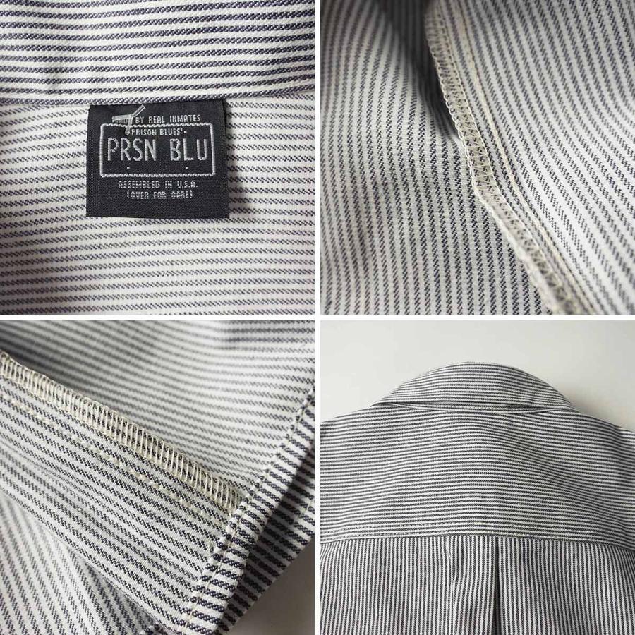 プリズンブルース PRISON BLUES 半袖 8オンス ヒッコリーストライプ ワークシャツ アメリカ製 米国製 HICKORY STRIPE WORK SHIRT jalana 08