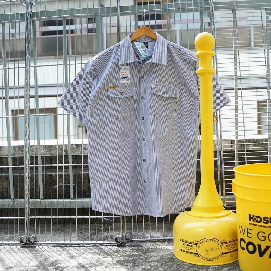 プリズンブルース PRISON BLUES 半袖 8オンス ヒッコリーストライプ ワークシャツ アメリカ製 米国製 HICKORY STRIPE WORK SHIRT jalana 10