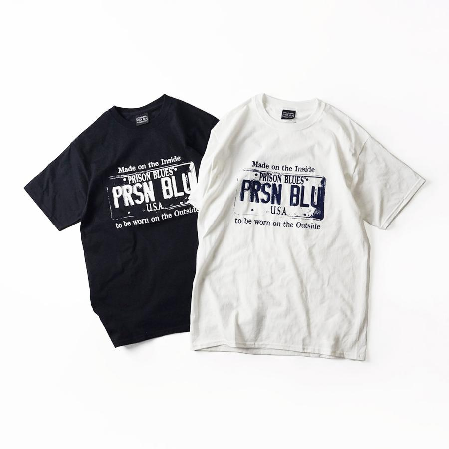 プリズンブルース PRISON BLUES 半袖 USA プレートロゴ TシャツプリントTシャツ USA PLATE LOGO T-SHIRTS|jalana|12