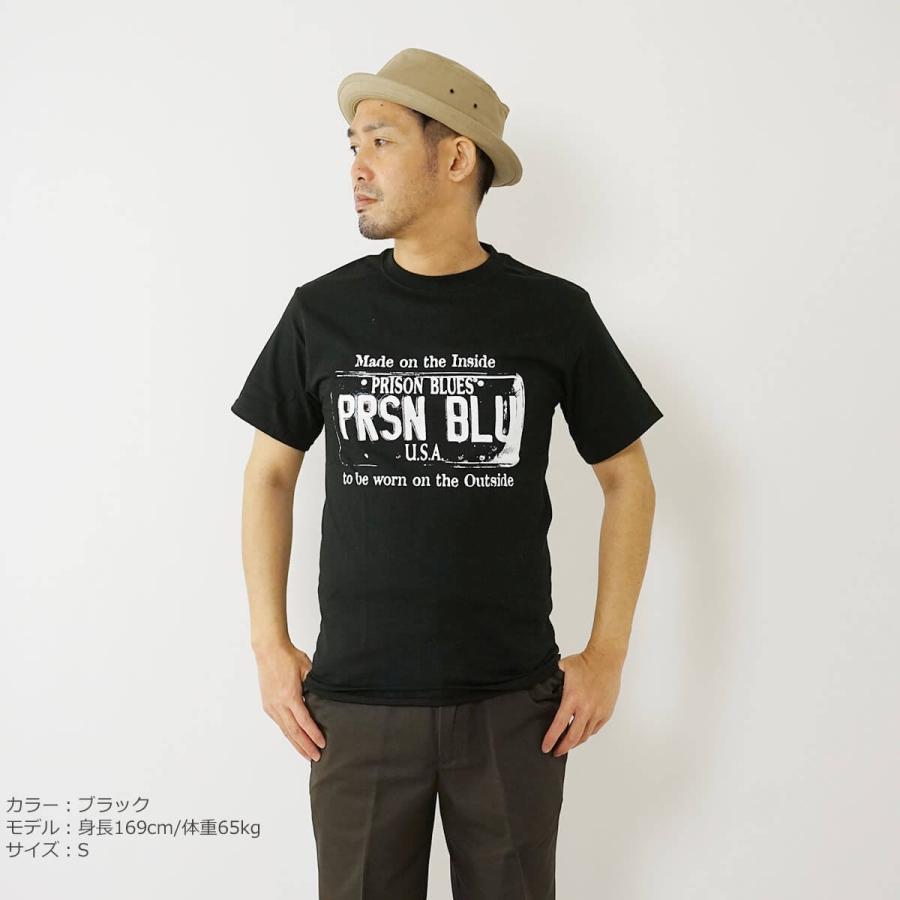 プリズンブルース PRISON BLUES 半袖 USA プレートロゴ TシャツプリントTシャツ USA PLATE LOGO T-SHIRTS|jalana|03