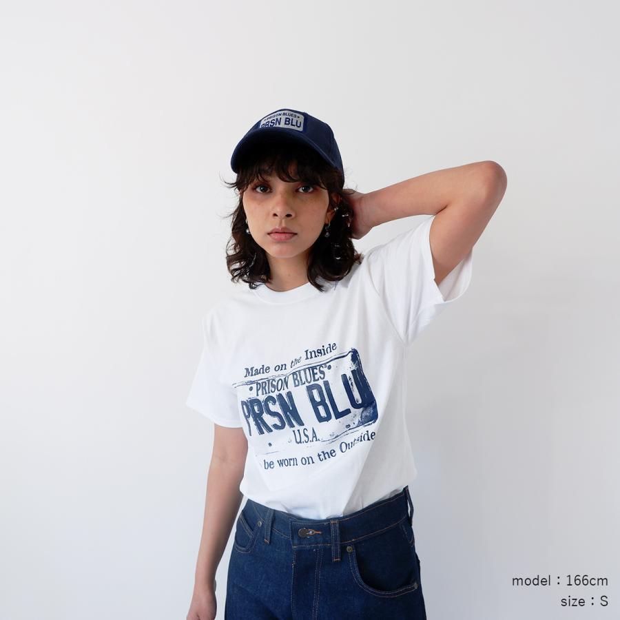 プリズンブルース PRISON BLUES 半袖 USA プレートロゴ TシャツプリントTシャツ USA PLATE LOGO T-SHIRTS|jalana|05