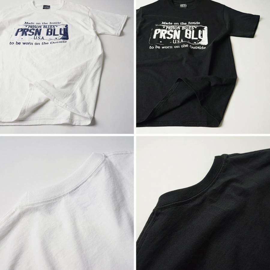 プリズンブルース PRISON BLUES 半袖 USA プレートロゴ TシャツプリントTシャツ USA PLATE LOGO T-SHIRTS|jalana|10