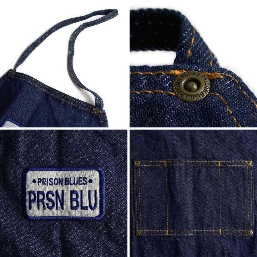 プリズンブルース PRISON BLUES ワークエプロン リンスドブルー 別注レッドフォックスステッチ アメリカ製 米国製 デニム jalana 05