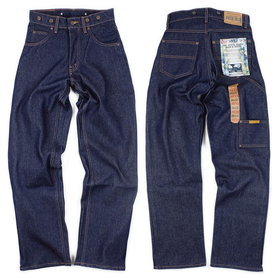 プリズンブルース PRISON BLUES ワークジーンズ サスペンダーボタン リジッドブルー アメリカ製 米国製 デニム ペインターパンツ   MADE IN USA メンズ ハンド jalana 03