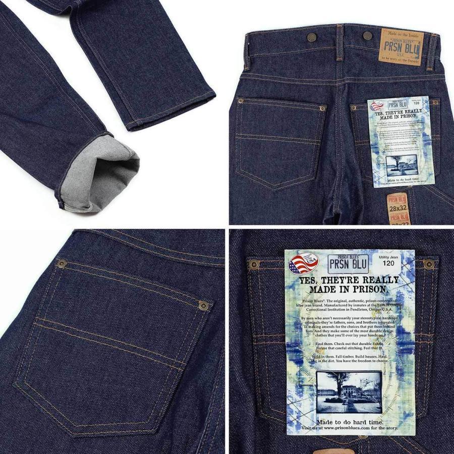 プリズンブルース PRISON BLUES ワークジーンズ サスペンダーボタン リジッドブルー アメリカ製 米国製 デニム ペインターパンツ   MADE IN USA メンズ ハンド jalana 06