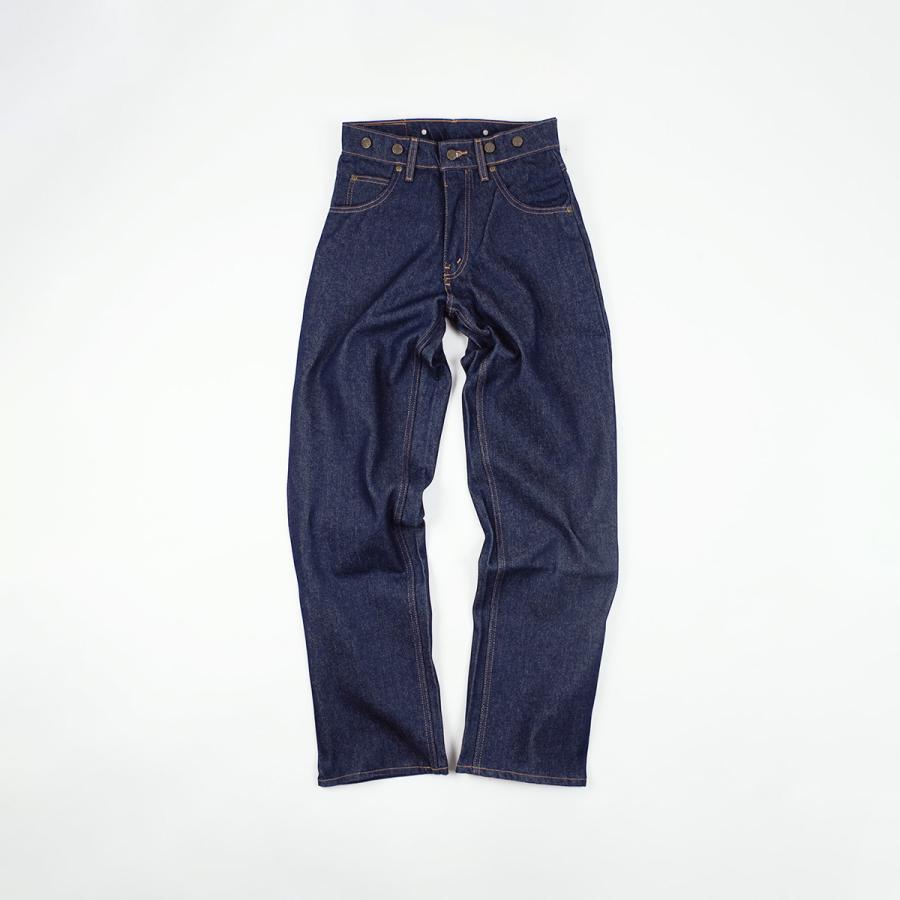 プリズンブルース PRISON BLUES ワークジーンズ サスペンダーボタン リジッドブルー アメリカ製 米国製 デニム ペインターパンツ   MADE IN USA メンズ ハンド jalana 09