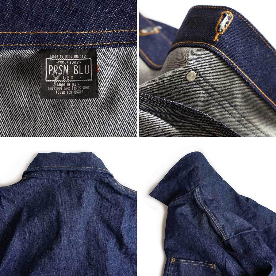 プリズンブルース PRISON BLUES デニムヤードコート リジッドブルー 別注レッドフォックスステッチ アメリカ製 米国製 カバーオール   MADE IN USA メンズ ハン jalana 08