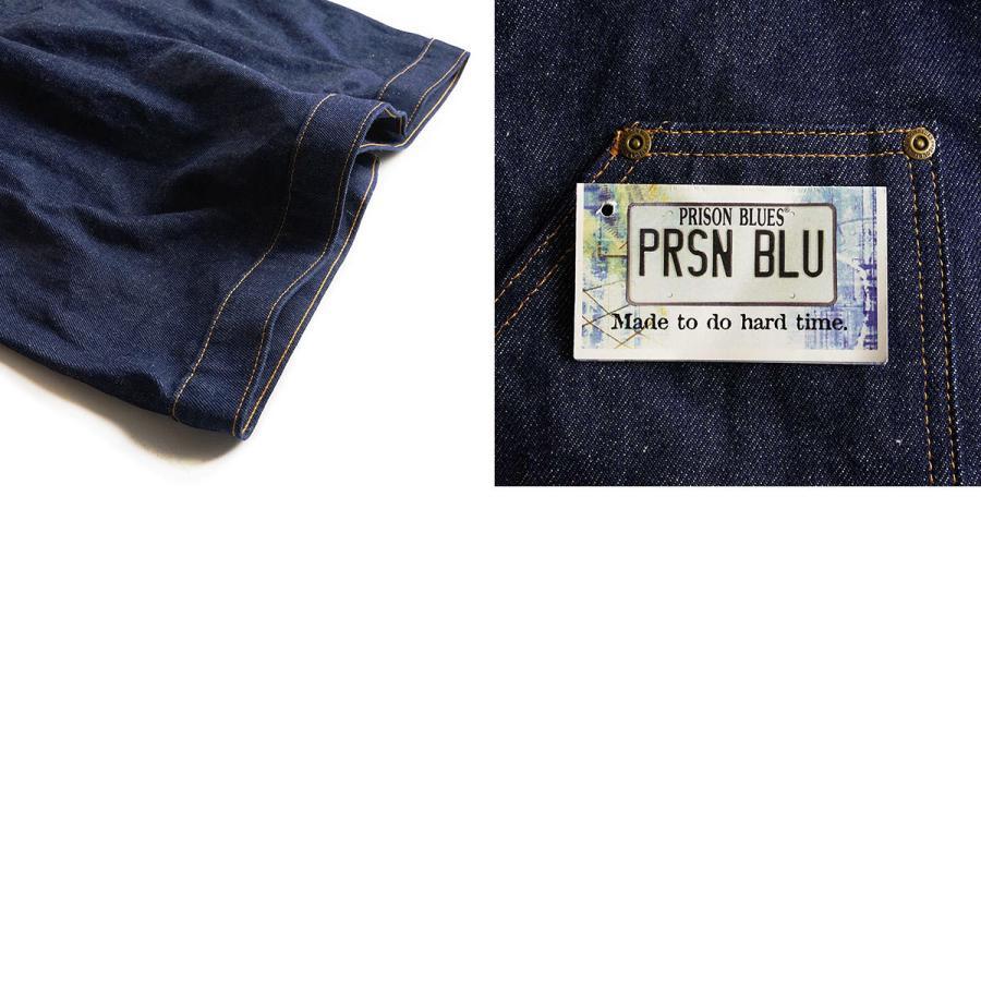 プリズンブルース PRISON BLUES デニムヤードコート リジッドブルー 別注レッドフォックスステッチ アメリカ製 米国製 カバーオール   MADE IN USA メンズ ハン jalana 09