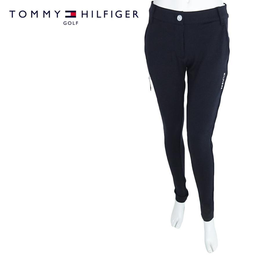TOMMY HILFIGER GOLF トミーヒルフィガー ゴルフ スリムパンツ レディース THLA967 SLIM PANTS ネイビー スキニー ストレッチ 吸水速乾 UVカット