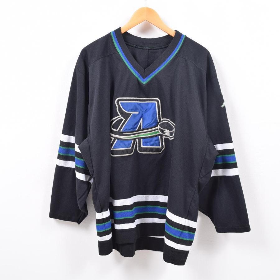 90年代 NHL COLORADO AVALANCHE コロラドアバランチ ゲームシャツ ホッケーシャツ カナダ製 メンズXXL 【中古】 【190427】 /wbd8310