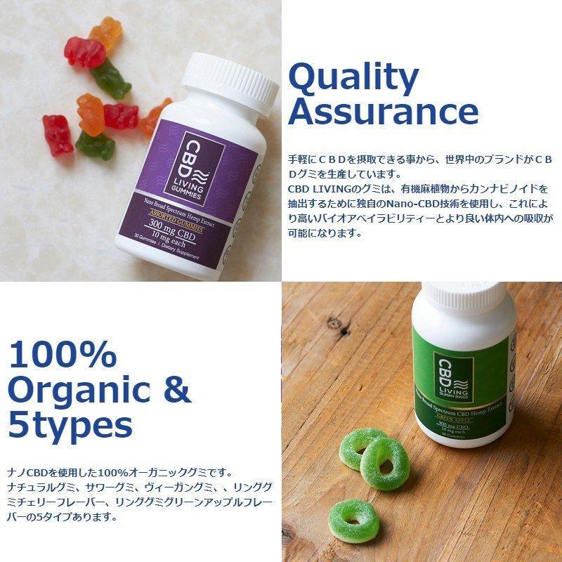 CBD オイル 効果 おすすめ 美容 不眠 グミ カプセル 1粒10mg 30粒 ナノ cbd CBDリビング 食べるCBD jandl-store 02