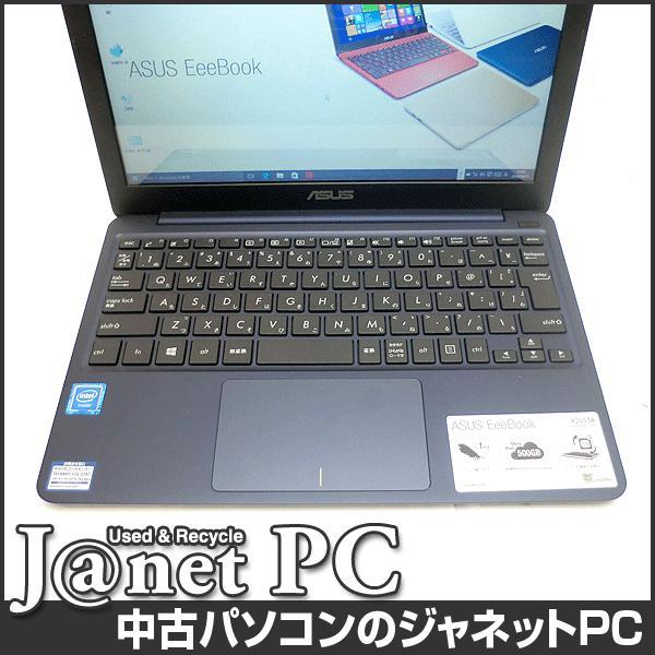中古ノートパソコン Windows10 11.6型ワイド液晶 Atom Z3735F 1.33GHz RAM2GB eMMC32GB HDMI 無線 Office付属 ASUS X205TA-DBLUE10【2447】 janetpc 02
