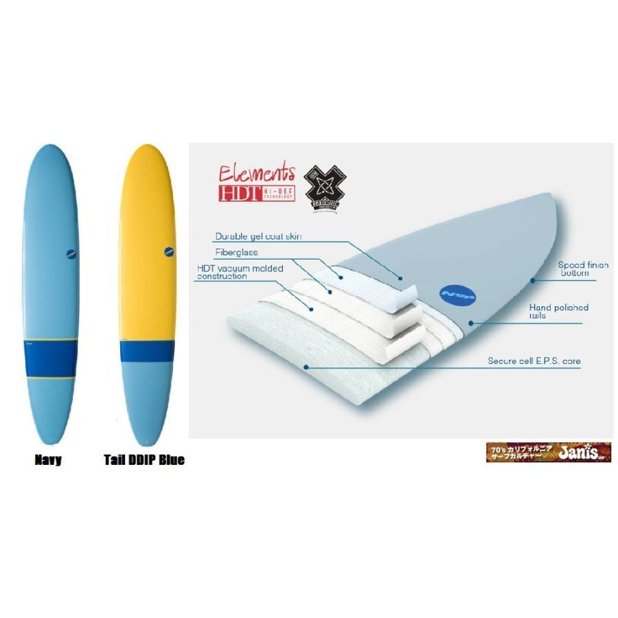 人気カラーの NSP surfboards ロングボード 品番 Long 8'6