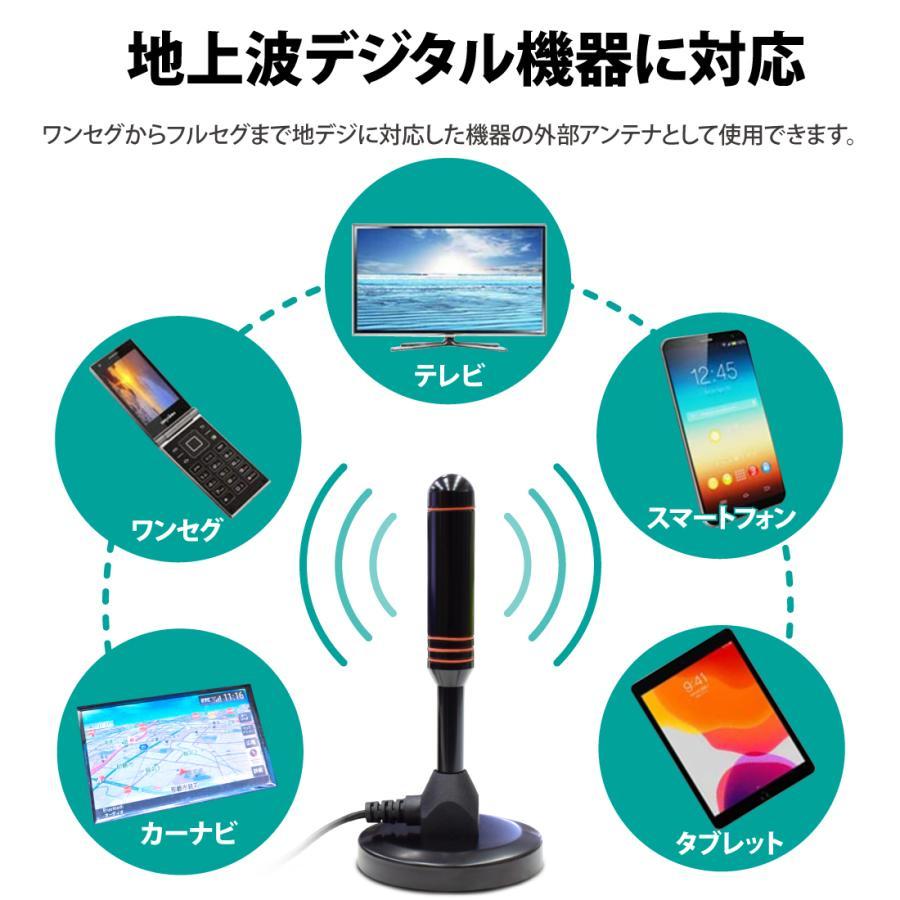 室内アンテナ テレビアンテナ ポータブル 4K HD TV デジタル ブースター 高性能受信 120KM受信範囲 アンテナケーブル5m 車載 地デジ専用 UHF VHF USB式 設置簡単|janri|09