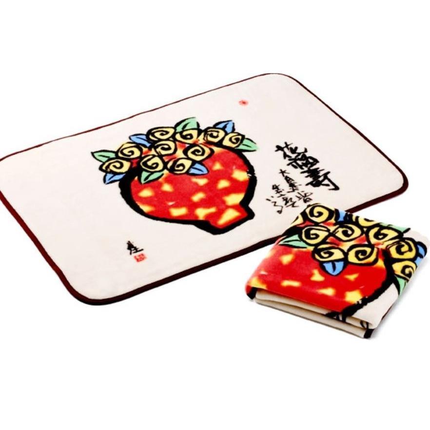 毛布 日本製 メーカー直販 糸井忠晴 花福寿 ひざ掛け毛布|japan-blanket