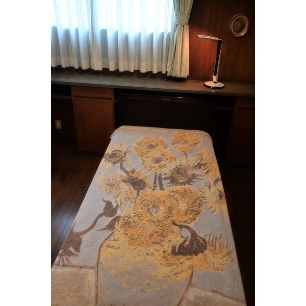 SALE ゴッホ ひまわり 綿毛布 日本製 メーカー直販 抗菌防臭 シングル アート コットンブランケット(毛羽部分)|japan-blanket|12
